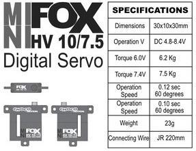 FOX HV 10/7.5 - 7.5 kg CHOCOmotion